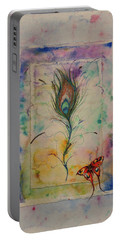 Feather And Butterfly Portable Battery Charger