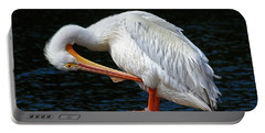 Portable Battery Charger featuring the photograph Feather Check by HH Photography of Florida