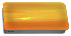 Feather Cloud In An Orange Sky  Portable Battery Charger by Lyle Crump