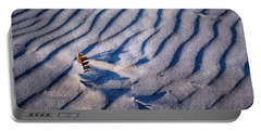 Portable Battery Charger featuring the photograph Feather In Sand by Michelle Calkins