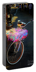 Portable Battery Charger featuring the photograph Feather Jazz Bicycle by Craig J Satterlee