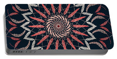 Feather Mandala 1 Portable Battery Charger