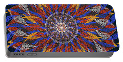 Feather Mandala Iv Portable Battery Charger