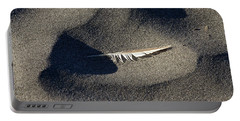 Feather On The Beach Portable Battery Charger by Jane Eleanor Nicholas