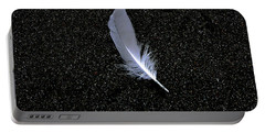Portable Battery Charger featuring the photograph Feather by Rhonda McDougall