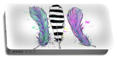 Feathers Portable Battery Charger by Lizzy Love