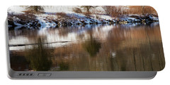 Portable Battery Charger featuring the photograph February Reflections by Karol Livote