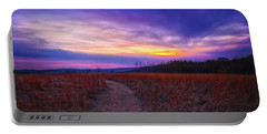 Portable Battery Charger featuring the photograph February Sunset And Path At Retzer Nature Center by Jennifer Rondinelli Reilly - Fine Art Photography