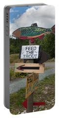 Feed The Trout Portable Battery Charger by Suzanne Gaff