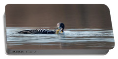Feeding Common Loon Portable Battery Charger