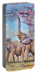Feeding Elephants Portable Battery Charger