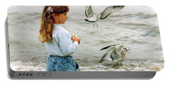Feeding Gulls Portable Battery Charger