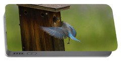 Feeding Time For Bluebirds Portable Battery Charger