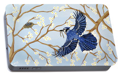 Portable Battery Charger featuring the painting Feeding Time by Teresa Wing