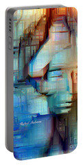 Portable Battery Charger featuring the digital art Feeling Blue by Rafael Salazar