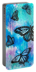 Portable Battery Charger featuring the painting Feeling Free by Susan DeLain