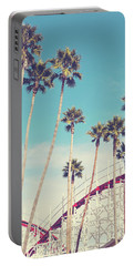Feels Like Summer - Boardwalk Roller Coaster Photograph Portable Battery Charger