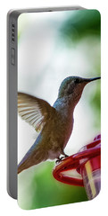 Portable Battery Charger featuring the photograph Female Anna's Hummingbird V24 by Mark Myhaver
