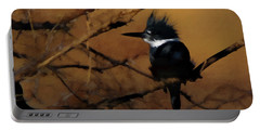 Portable Battery Charger featuring the digital art Female Belted Kingfisher 2 by Ernie Echols