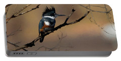 Portable Battery Charger featuring the digital art Female Belted Kingfisher by Ernie Echols