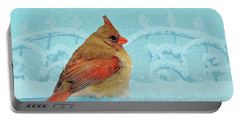 Portable Battery Charger featuring the photograph Female Northern Cardinal In Winter by Janette Boyd