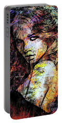 Portable Battery Charger featuring the digital art Female Portrait 1955 by Rafael Salazar