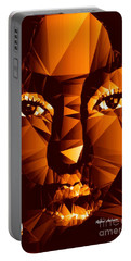 Portable Battery Charger featuring the digital art Female Portrait In Brown by Rafael Salazar