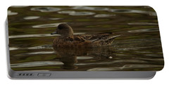 Portable Battery Charger featuring the photograph Female Wigeon by Jeff Swan