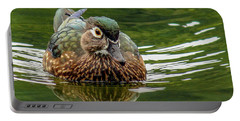 Portable Battery Charger featuring the photograph Female Wood Duck by Jean Noren