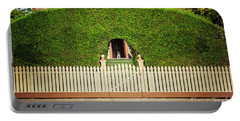 Fence, Hedge, Dog And Cat Portable Battery Charger by Craig J Satterlee