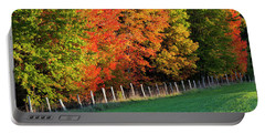 Fence Line Foliage Portable Battery Charger by Alan L Graham