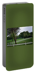 Fence On The Wooded Green Portable Battery Charger