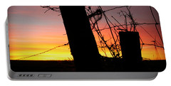 Fence Sunrise Portable Battery Charger