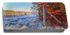 Portable Battery Charger featuring the photograph Fenced Autumn by Dmytro Korol