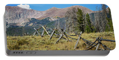 Fences Into The Rockies Portable Battery Charger