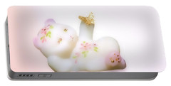 Portable Battery Charger featuring the photograph Fenton Art Glass Bear by Linda Phelps