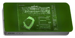 Fenway Park Blueprints Home Of Baseball Team Boston Red Sox Portable Battery Charger