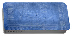 Fenway Park Blueprints Home Of Baseball Team Boston Red Sox On Worn Parchment Portable Battery Charger by Design Turnpike