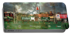 Portable Battery Charger featuring the photograph Fenway Park Green Monster And Citgo Sign by Joann Vitali
