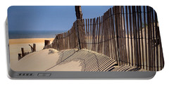 Fenwick Dune Fence And Shadows Portable Battery Charger