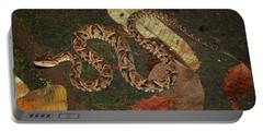 Portable Battery Charger featuring the photograph Fer-de-lance, Bothrops Asper by Breck Bartholomew