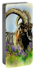 Feral Highland Buck In Heather Portable Battery Charger by Ruanna Sion Shadd a'Dann'l Yoder