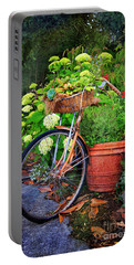 Fern Dale Flower Bicycle Portable Battery Charger by Craig J Satterlee