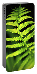 Fern Leaf Portable Battery Charger by Robert FERD Frank