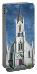 Portable Battery Charger featuring the photograph Ferndale Catholic Church by Greg Nyquist