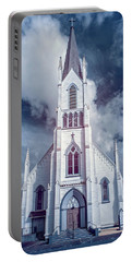 Portable Battery Charger featuring the photograph Ferndale Church In Infrared by Greg Nyquist