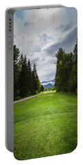 Portable Battery Charger featuring the photograph Fernie Tee Box by Darcy Michaelchuk