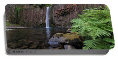 Ferns And Rocks By Abiqua Falls Portable Battery Charger