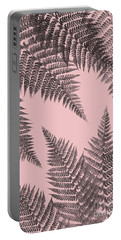 Ferns On Blush Portable Battery Charger