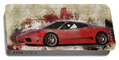 Portable Battery Charger featuring the photograph Ferrari 430  by Joel Witmeyer